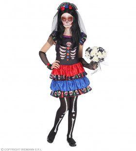 Dia De Los Muertos Graf Dame Meisje Kostuum