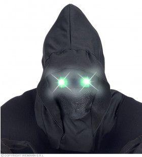 Masker Beul Met Kap En Lichtgevende Groene Ogen