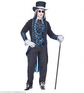 Victoriaaanse Vampier Dark Alley Man Kostuum