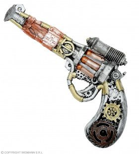 Steampunk Revolver Latex 32 Centimeter
