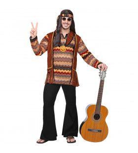 Psychedelische Golven Hippie Man Kostuum