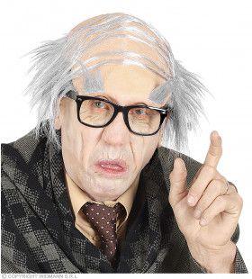 Oude Opa Masker Met Gecamoufleerde Brede Scheiding