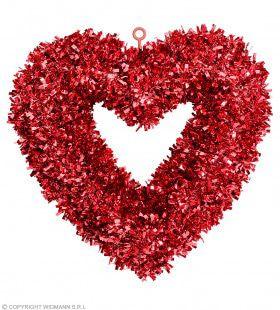 Glinsterend Hart Valentijn 46 X 44 Centimeter