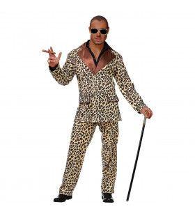 Ordinaire Hustler Luipaard Man Kostuum