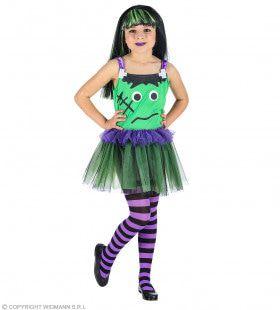 Beetje Zielig Groen Monster Meisje Kostuum