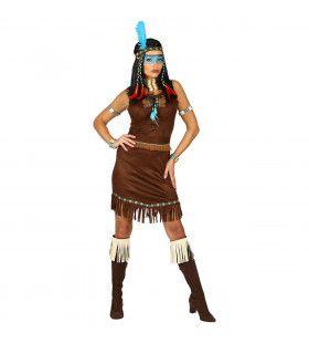 Snelle Soepele Sissipahaw Indiaan Vrouw Kostuum
