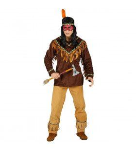 Genadeloze Biloxi Krijger Indiaan Man Kostuum