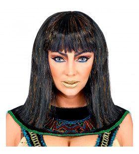 Pruik Farao Cleopatra Met Klatergoud
