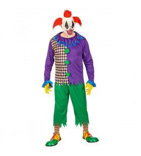 Enge Clown Cirque Du Macabre Man Kostuum
