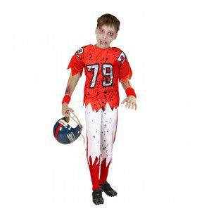 End Zone Zombie American Football Speler Kind Kostuum