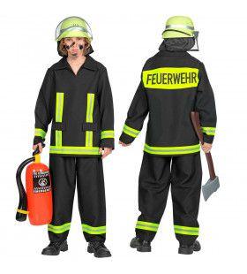 Brandweerman Feuerwehr Huizenhoge Vlammen Jongen Kostuum