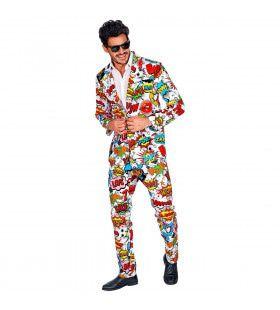 60s Pop Art Strip Man Kostuum