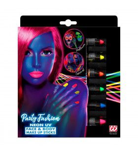 Set Van 6 Neon Make-Up Potloden