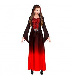 Rode Gotische Meesteres Van De Nacht Vrouw Kostuum