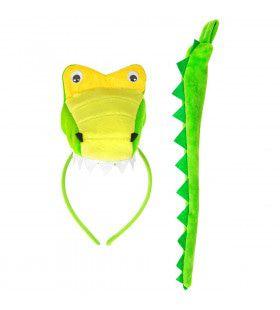 Kop Met Tanden En Staart Krokodil