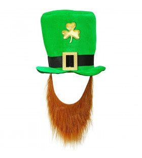 Hoge Hoed St. Patricks Day Leprechaun Kabouter Met Baard