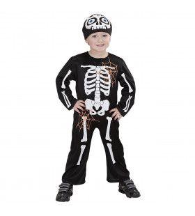 Knekel Skelet Spookhuis Kind Kostuum