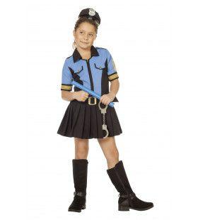 Dappere Doortje Politie Blauw Meisje Kostuum