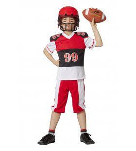 American Football End Zone Jongen Kostuum