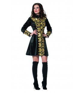 Gotische Jas Luxe Gold Vrouw