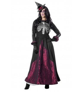Pitch Black Goddess Of Death Vrouw Kostuum
