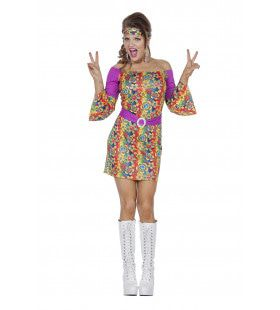 Hippie Jurk I Am So Sixties Vrouw