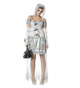 Zombie Bruid Death Wife Vrouw Kostuum