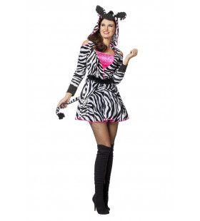 Zebra Girl Van De Steppe Vrouw Kostuum
