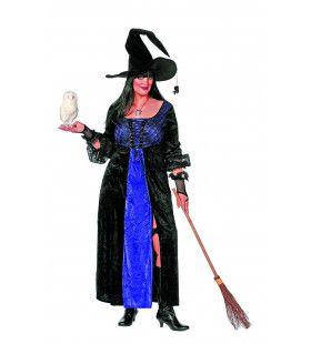 Heks Paars / Zwart Grote Maat Vrouw Kostuum