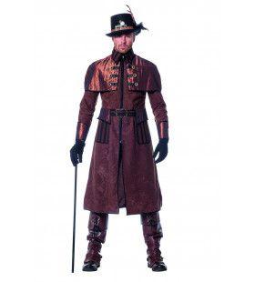 Dark Steampunk Luxe Jas Man Kostuum