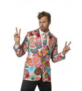 Spirit Flower Colbert Multi Print Man Kostuum