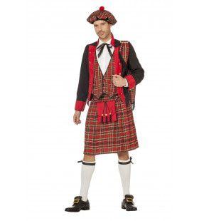 Schotse Landheer Laird Banff Man Kostuum