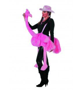 Roze Struisvogel Kostuum