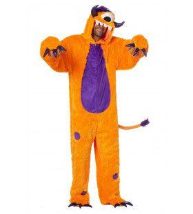 Scherpe Klauwen Monster Oranje Man Kostuum