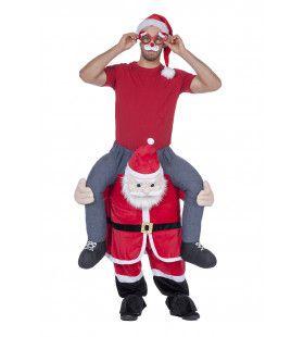 Hilarische Man Op Kerstman Kostuum