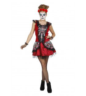 Chique Ribben Day Of The Dead Vrouw Kostuum