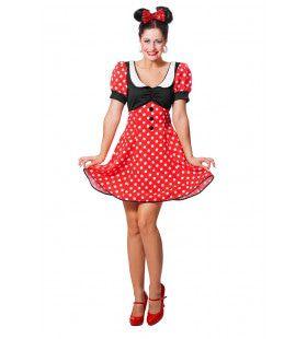 Minnie De Dottige Muis Vrouw Kostuum