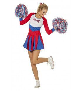 Cheerleader Go Go Go Vrouw Kostuum