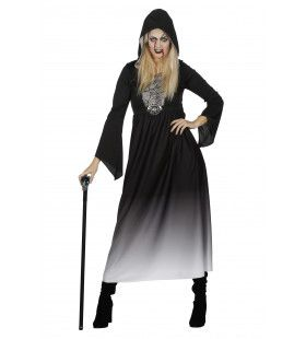 Duistere Halloween Jurk Met Capuchon Vrouw