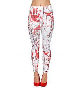 Legging Wit Met Bloed Vrouw