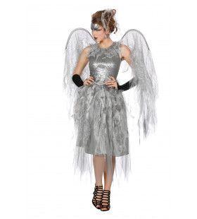 Zilveren Engel Vrouw Kostuum