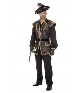 Roekeloze Piraat Man Kostuum