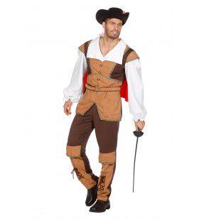 Romantische Held Musketier Kostuum