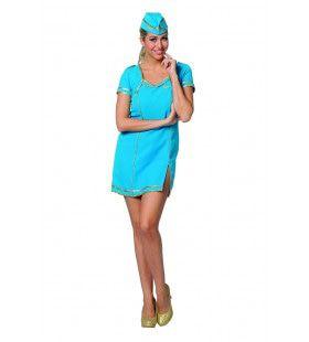 Hele Fijne Air Hostess Luchtvaart Stewardess Vrouw Kostuum