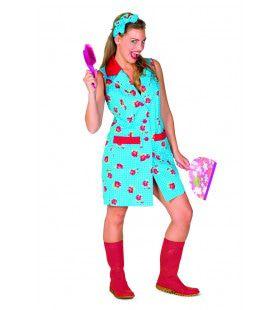 Vrolijke Bloemetjesschort Interieur Verzorgster Vrouw Kostuum