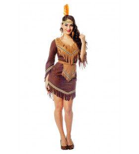 Dravende Mustang Mojave Indiaan Vrouw Kostuum