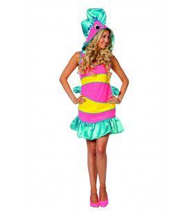 Tropische Koraal Vis Indische Oceaan Vrouw Kostuum