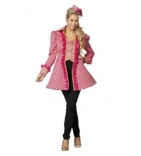 Ster Van De Show Theater Jas Roze Vrouw