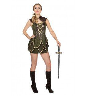 Snelle Krijger Uit Het Sherwood Bos Vrouw Kostuum