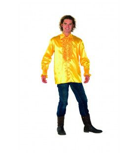 Dolle Disco Ruches Blouse Geel Man